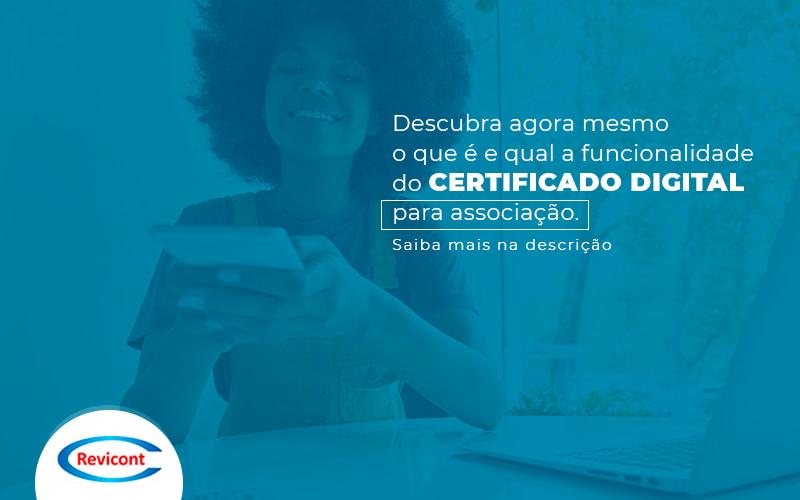 Certificado digital para associação - isso ajudará sua ONG
